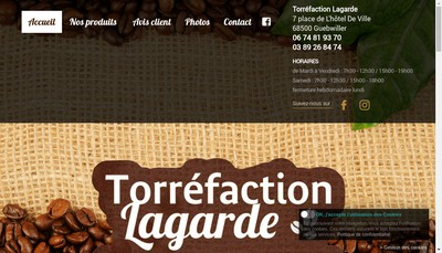 Site internet de Torrefaction Lagarde