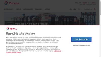 Site internet de Total Lubrifiants