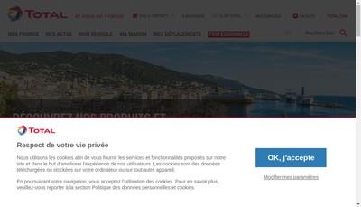 Site internet de Total Marketing France