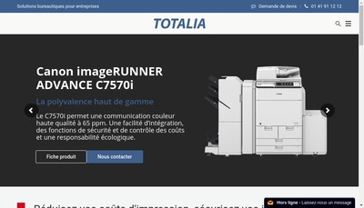 Site internet de Societe Totalia
