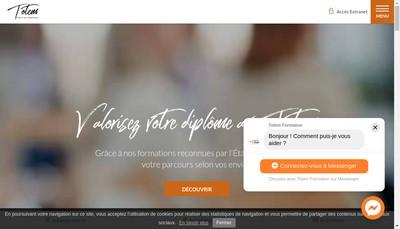 Site internet de Totem Formation