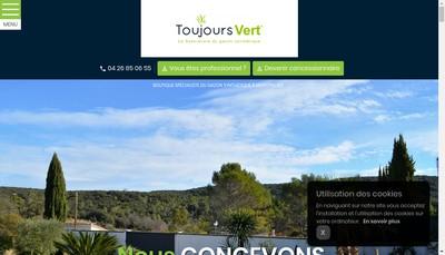 Site internet de Toujours Vert