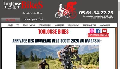 Site internet de Toulouse Bikes