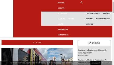 Site internet de Toulouse Infos