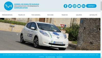Site internet de Tour Vehicules Electriques - Tve
