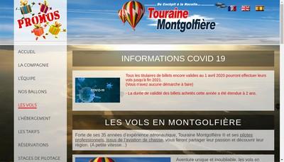Site internet de Touraine Montgolfiere