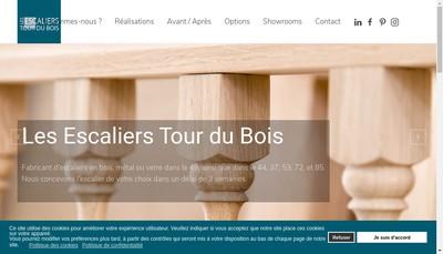 Site internet de Les Escaliers Tour du Bois