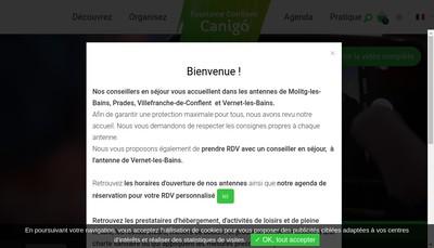 Site internet de Office de Tourisme Conflent Canigo