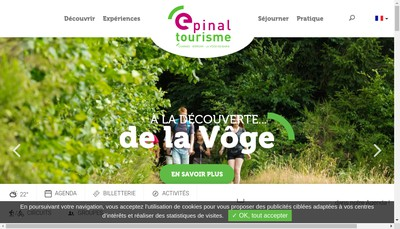 Site internet de Epinal Tourisme