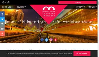 Site internet de Office de Tourisme et des Congres de Mulhouse et SA Region