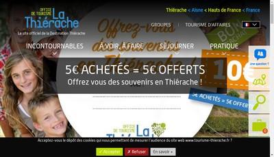 Site internet de Office de Tourisme du Pays de Thierache
