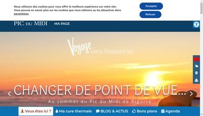 Site internet de Office de Tourisme Tourmalet Pic du Midi