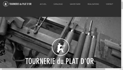 Site internet de Tournerie du Plat d'Or