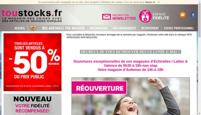Site internet de Interstocks