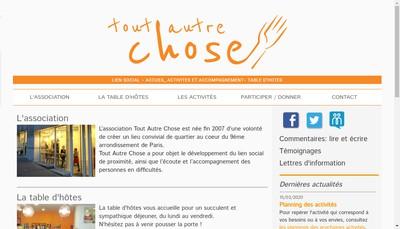 Site internet de Tout'Autre Chose
