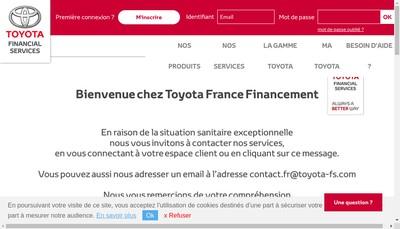 Site internet de Toyota Kreditbank Gmbh