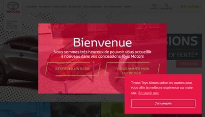 Site internet de Toys Motors