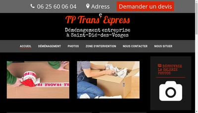 Site internet de Tp Trans'Express
