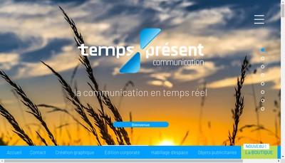 Site internet de Temps Present
