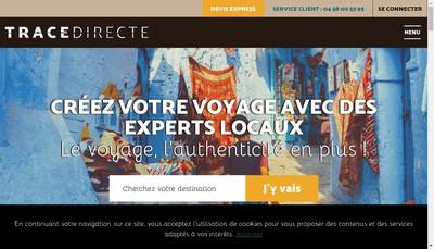 Site internet de Trace Directe