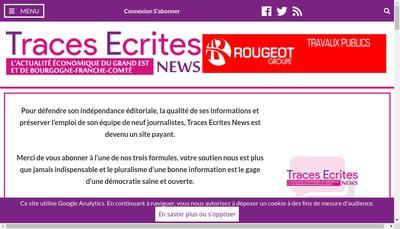 Site internet de Traces Ecrites