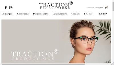 Site internet de Traction Productions Eyewear