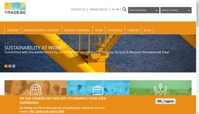 Site internet de Tradebe