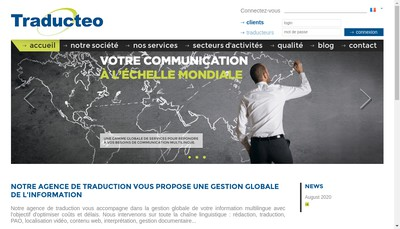 Site internet de Traducteo