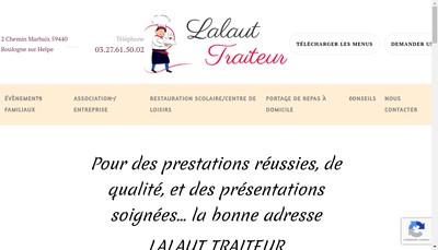 Site internet de Lalaut Traiteur