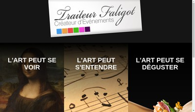 Site internet de Traiteur Faligot