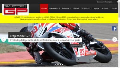 Site internet de Trajectoire Gp