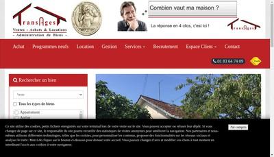 Site internet de Transagest