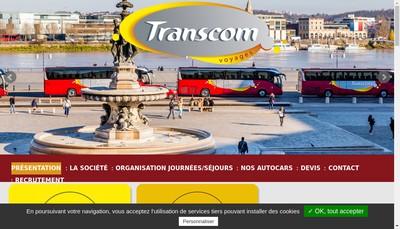 Site internet de Transcom Voyages