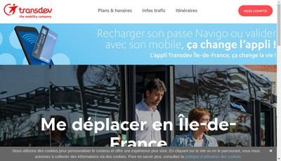 Site internet de Transdev Ile de France
