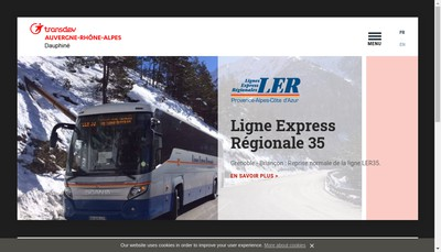 Site internet de Transdev Dauphine