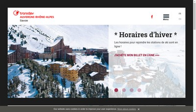 Site internet de Transdev Savoie