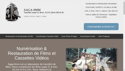 Site internet de Saga 8Mm