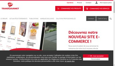 Site internet de Transgourmet France