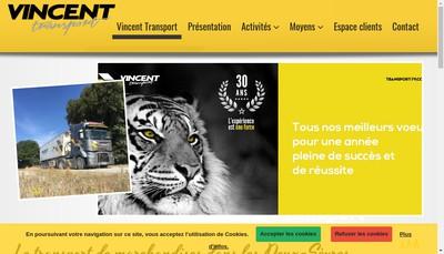 Site internet de Transports Vincent
