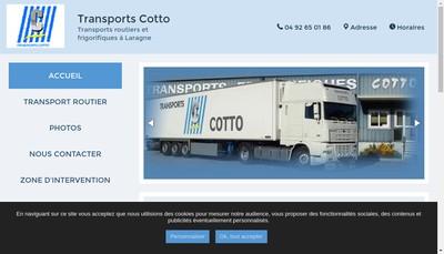 Site internet de Transports Cotto
