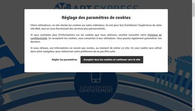 Site internet de Art Express Frigorifique