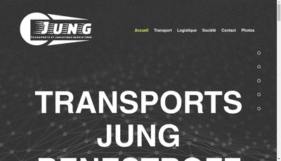 Site internet de Transports Jung