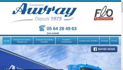 Site internet de Auvray Transports