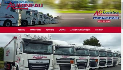 Site internet de Transports Aubineau 79