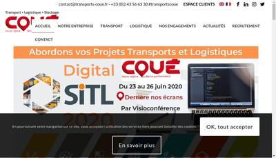 Site internet de Transports Coue