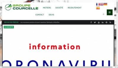 Site internet de Transports Locations Courcelle