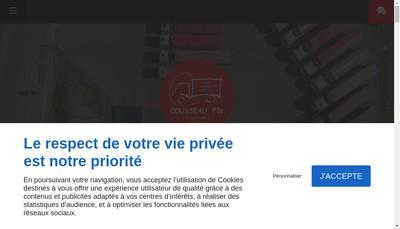 Site internet de Transports Cousseau Fils