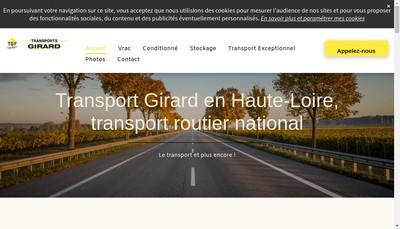 Site internet de Girard Logistique