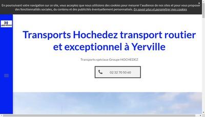 Site internet de Transports Hochedez Pere et Fils