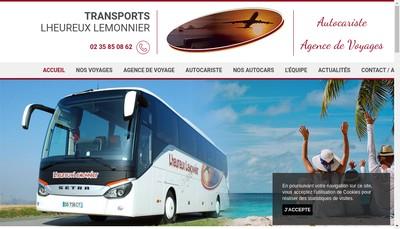 Site internet de Transports Lheureux Lemonnier